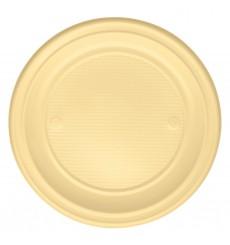 Prato Plastico Raso Creme PS 220 mm (30 Unidades)