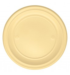 Prato Plastico Raso Creme PS 220 mm (780 Unidades)