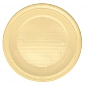 Prato Plastico PS Fundo Creme Ø220mm (30 Unidades)
