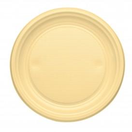 Prato Plastico PS Raso Creme Ø170mm (50 Unidades)