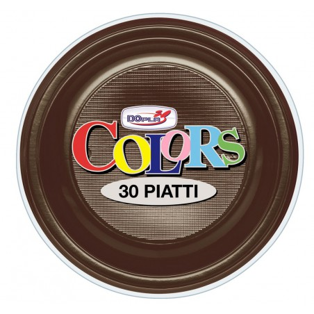 Prato Plastico Fundo Creme PS 220 mm (30 Unidades)