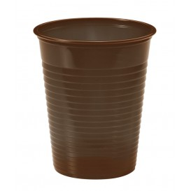 Copo de Plastico PS Chocolate 200ml Ø7cm (50 Unidades)
