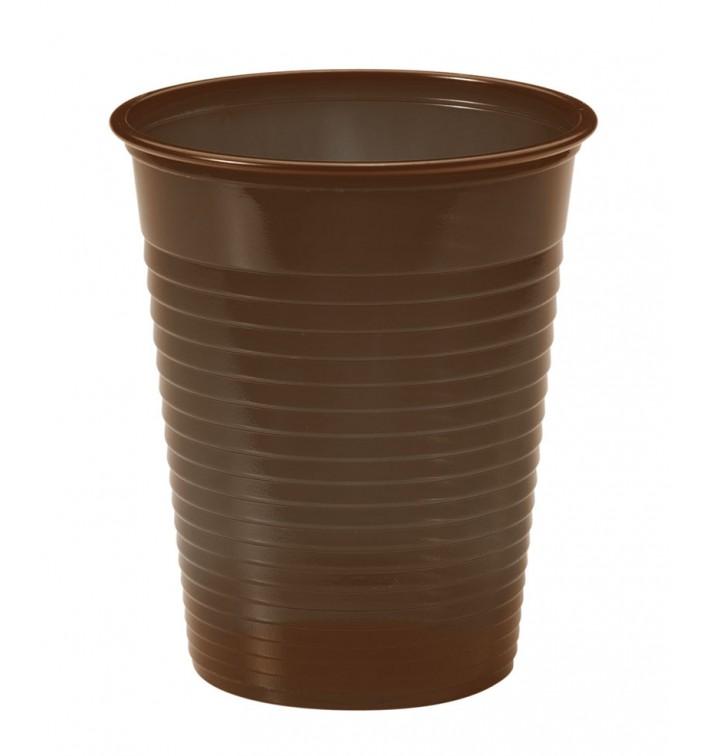 Copo de Plastico PS Chocolate 200ml Ø7cm (1500 Unidades)