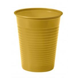 Copo de Plastico PS Ouro 200ml Ø7cm (50 Unidades)