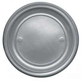 Prato Plastico Raso Ouro PS 220 mm (30 Unidades)