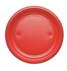 Prato Plastico Raso Ouro PS 170mm (50 Unidades)