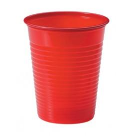 Copo de Plastico PS Vermelho 200ml Ø7cm (50 Unidades)