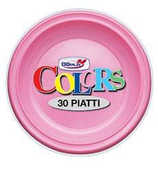 Prato Plastico PS Raso Rosa Ø220mm (780 Unidades)