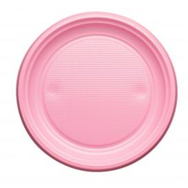 Prato Plastico PS Raso Rosa Ø170mm (50 Unidades)