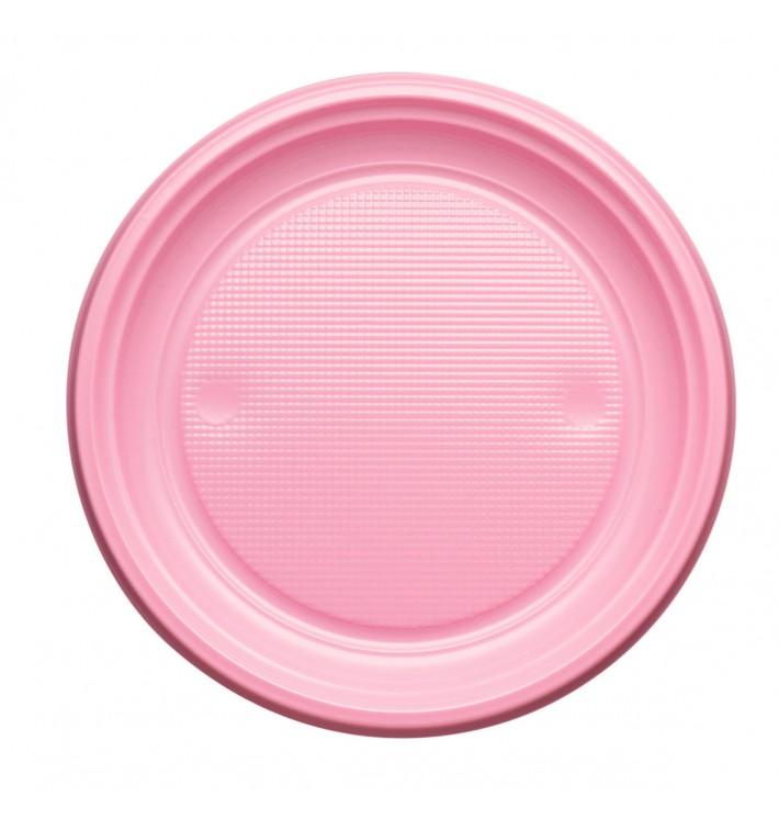 Prato Plastico PS Raso Rosa Ø170mm (1100 Unidades)