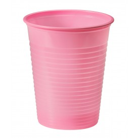 Copo de Plastico PS Rosa 200ml Ø7cm (50 Unidades)