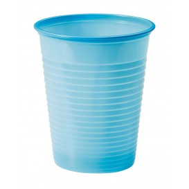 Copo de Plastico PS Azul Claro 200ml Ø7cm (50 Unidades)