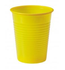 Copo de Plastico Amarelo PS 200 ml (50 Unidades)