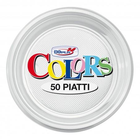 Prato Plastico Raso Transparente PS 170mm (50 Unidades)