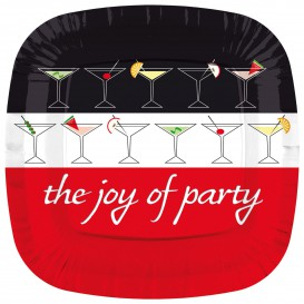 "Prato Cartone Quadrado ""Joy of Party"" 230mm (200 Unidades)"