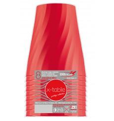 """Copo de Plastico """"X-Table"""" Vermelho PP 320ml (8 Unidades)"""