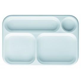 Bandeja de Plastico PS Branco 4C 360x240mm (300 Uds)