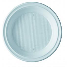 Prato Plastico PS Fundo Branco 205mm (100 Unidades)