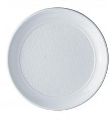 Prato Plastico Raso Branco PS 250 mm (100 Unidades)