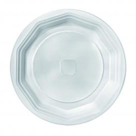 """Prato Plastico PP Fundo Branco """"Deka"""" 220mm (100 Unidades)"""