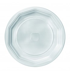 Prato Plastico Raso Branco PS 220 mm (1600 Unidades)