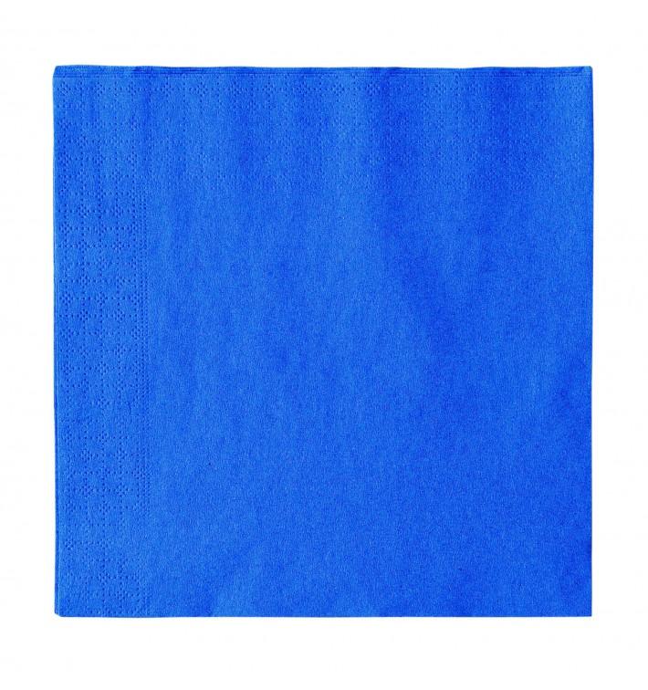 Guardanapos Papel 2 Folhas Azul scuro 33x33cm (50 Uds)