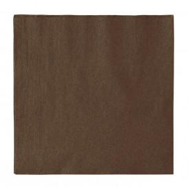 Guardanapos Papel 2 Folhas Marrom 33x33cm (1200 Uds)