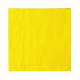 Guardanapos Papel 2 Folhas Amarelo 33x33cm (1200 Uds)