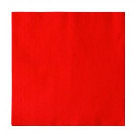 Guardanapos Papel 2 Folhas Vermelho 33x33cm (50 Uds)