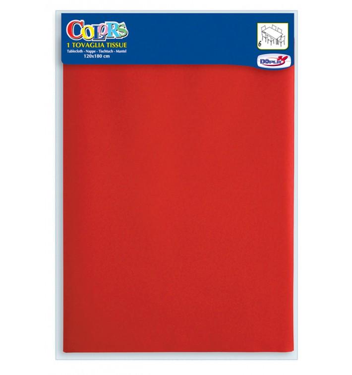 Toalhete Papel Mesa Vermelho 1,2x1,8m (24 Uds)