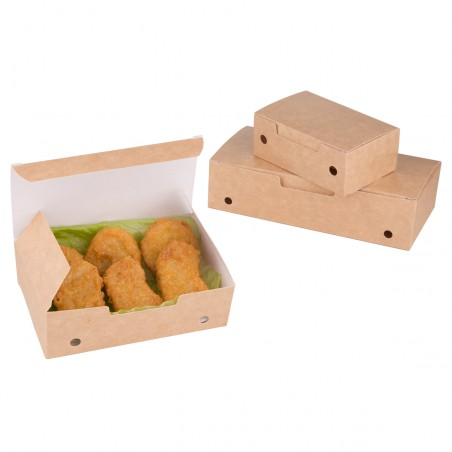 Caixa Take Away Pequeno Kraft 115x72x43mm (750 Uds)