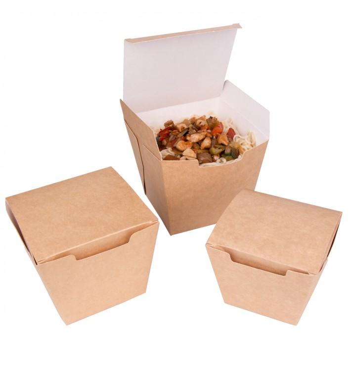 Embalagem Fechado TakeAway Wok Kraft 950ml (100 Uds)