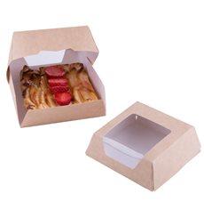 Caixa de Cartão Kraft com Janela 140x140x50mm (250 Uds)