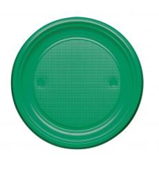 Prato Plastico PS Raso Verde Ø220mm (30 Unidades)