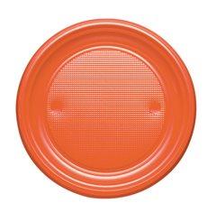 Prato Plastico PS Raso laranja Ø170mm (1100 Unidades)