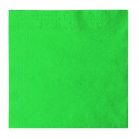 Guardanapos Papel 2 Folhas Verde 33x33cm (50 Uds)