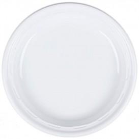 """Prato de Plastico PS """"Famous Impact"""" Branco Ø230mm (500 Uds)"""