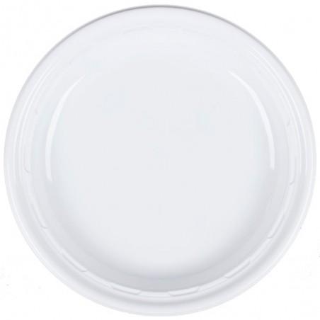 """Prato de Plastico PS """"Famous Impact"""" Branco Ø230mm (125 Uds)"""