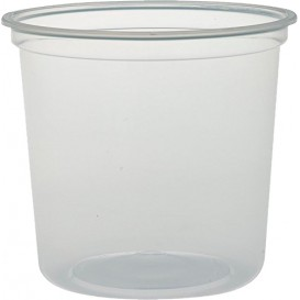 """Embalagem Plastico PP """"Deli"""" 24Oz/710ml Transp. Ø120mm (25 Uds)"""