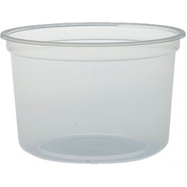 """Embalagem Plastico PP """"Deli"""" 16Oz/473ml Transp. Ø120mm (500 Uds)"""