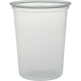 """Embalagem Plastico PP """"Deli"""" 32Oz/960ml Transp. Ø120mm (25 Uds)"""