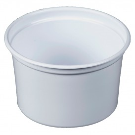 "Embalagem Plastico PP ""Deli"" 16Oz/473ml Branco Ø120mm (500 Uds)"