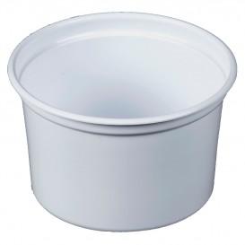"Embalagem Plastico PP ""Deli"" 16Oz/473ml Branco Ø120mm (25 Uds)"