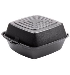 Embalagem Foam Hamburguer Preto 150x150x80mm (500 Uds)