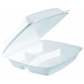 Embalagem Foam ExtraGrande 3C. Tampa Removível Branco 240x235mm (100 Uds)