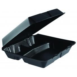 Embalagem Foam MenuBox 3C. Preto 240x235mm (100 Uds)
