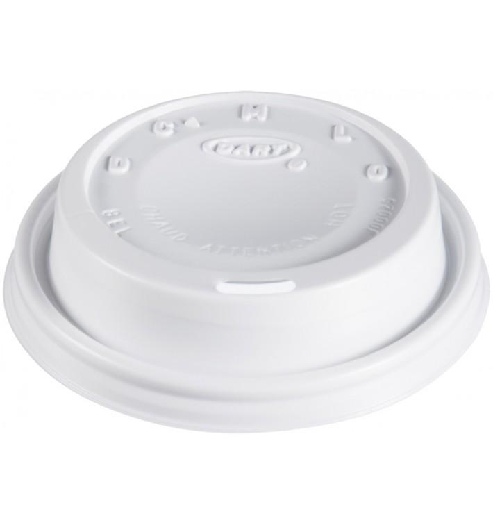 """Tampa de Plastico PS """"Cappuccino"""" Branco Ø8,1cm (100 Uds)"""
