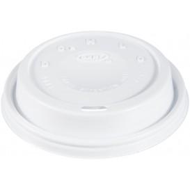 """Tampa de Plastico PS """"Cappuccino"""" Branco Ø9,4cm (1000 Uds)"""