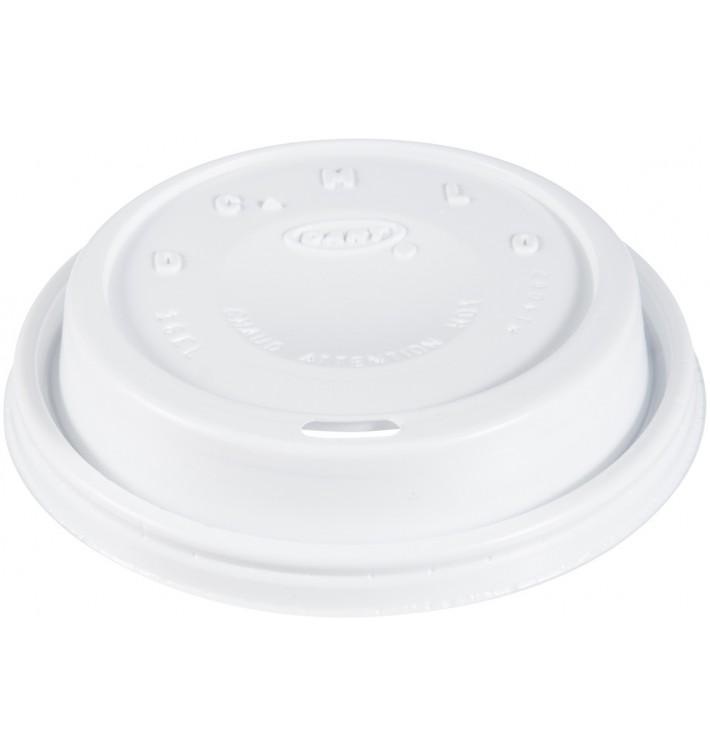 "Tampa de Plastico PS ""Cappuccino"" Branco 24Oz/710 ml (100 Uds)"