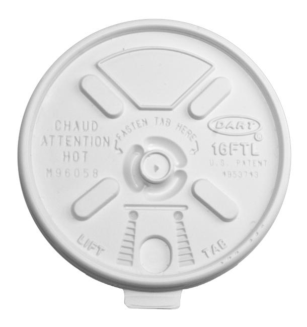 """Tampa """"Lift n' Lock"""" PS Branco Ø9,4cm (1000 Uds)"""